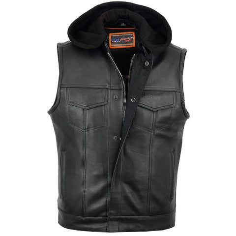 ds182 leather motorcycle vest