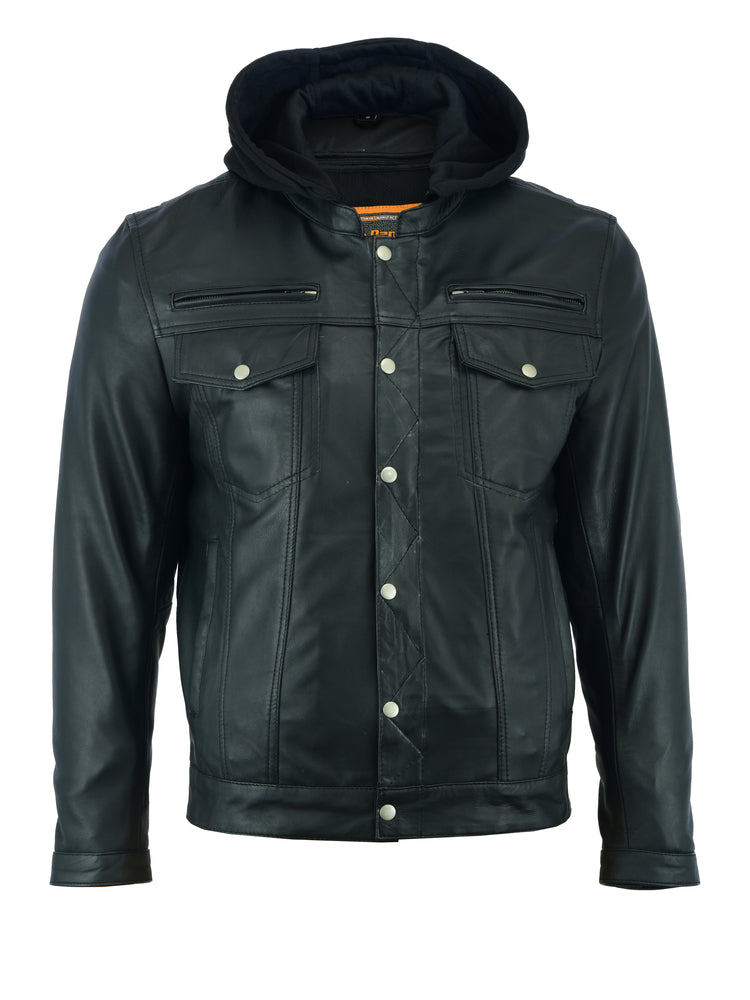 DS781 Men's Lightweight Drum Dyed Naked Lambskin Jacket
