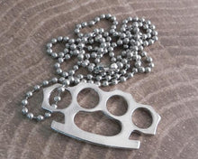 Load image into Gallery viewer, AB340 Brass Knuckle Necklace
