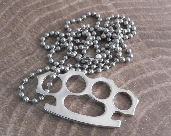 AB340 Brass Knuckle Necklace
