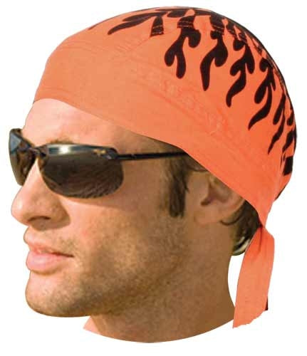 HW2686 Headwrap Orange Flames