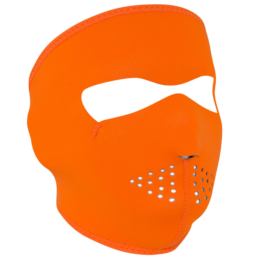WNFM142 ZAN® Full Mask- Neoprene- High-Visibility Orange