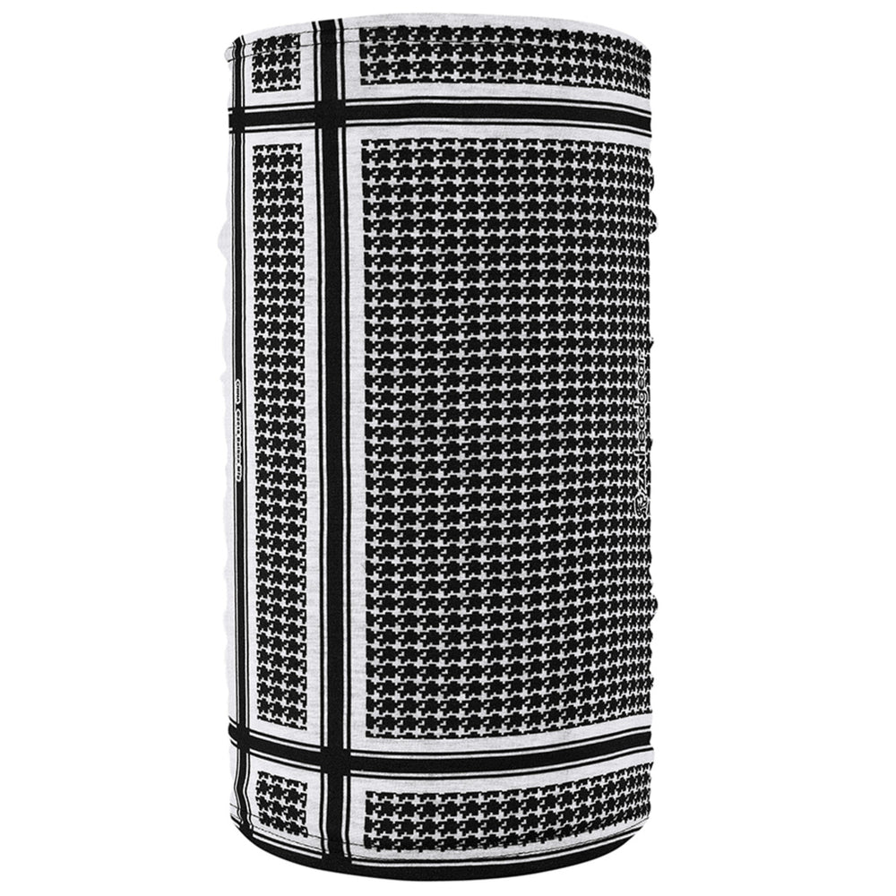 TF235BW Motley Tube® Fleece Lined- Houndstooth, Black and White