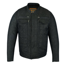 Load image into Gallery viewer, DM915 Men's Rough Rub-Off Raw Finish Denim Jacket