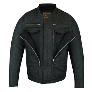 DM915 Men's Rough Rub-Off Raw Finish Denim Jacket
