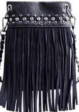 Load image into Gallery viewer, CHIC415-BLK crossbody handbag - Top Bling FRINGE