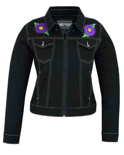 DM949 Women's Daisy Black Denim Jacket