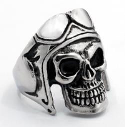 R107 Stainless Steel Biker Skull Biker Ring