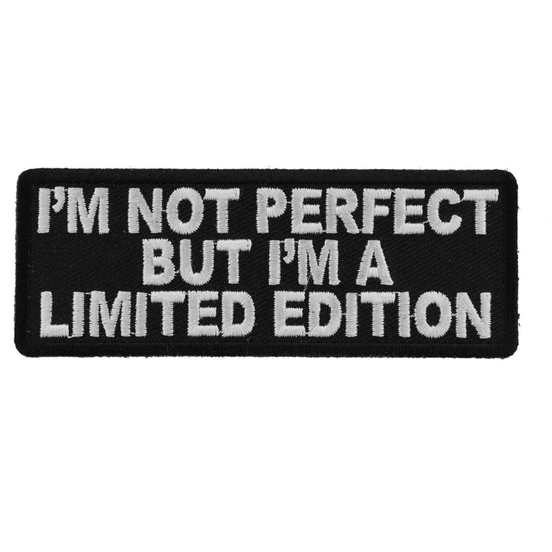 P5342 I'm Not Perfect But I'm A Limited Edition Iron on Morale Patch