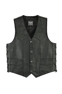 DS1726 Kids Traditional Style Side Lace Vest