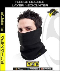 NG001- Double Layer Fleece NeckGaiter- Black