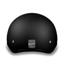 Load image into Gallery viewer, D1-B D.O.T. DAYTONA SKULL CAP - DULL BLACK
