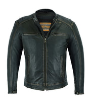 Load image into Gallery viewer, DS743 Men's Cruiser Jacket in Lightweight Drum Dyed Distressed Naked