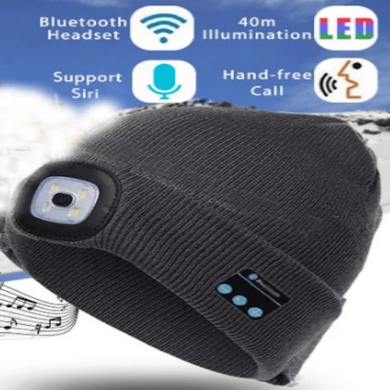 Mantis Smart Beanie LED with BLUETOOTH WIRELESS HEADSET HEADPHONE SPEAKER