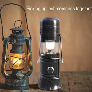 Retro Lantern Multi Functional with LED Lamp - Flash Light - Portable Wireless Speakers - Solar Recharge*