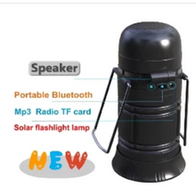 Load image into Gallery viewer, Retro Lantern Multi Functional with LED Lamp - Flash Light - Portable Wireless Speakers - Solar Recharge*