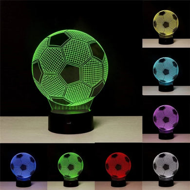 3D LED Soccer Neon Light