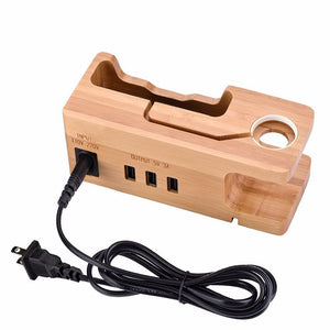 Wooden Charging Dock Station