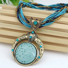 Load image into Gallery viewer, Elegant Stone Vintage Necklace - Blue