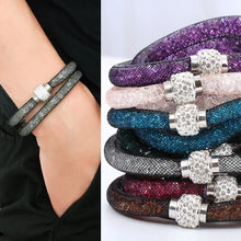 Load image into Gallery viewer, Crystal Mesh Wrap Bracelet