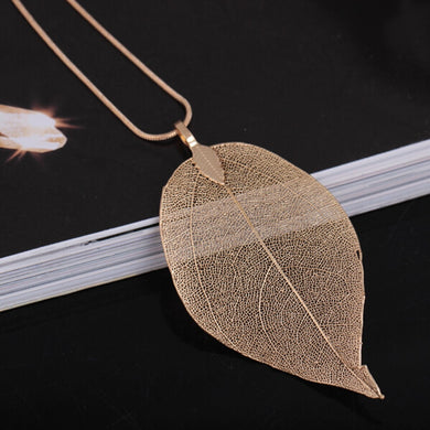 Delicate Unique Leaf Pendant