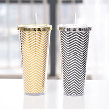 Load image into Gallery viewer, Tall Tumbler-Cup With Lid & Straw
