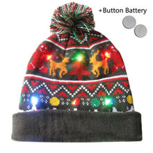 Load image into Gallery viewer, Christmas LED Beanie