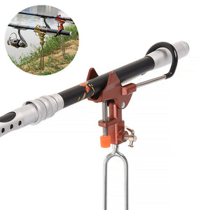 Fish Rod Holder Adjustable Handle Support Stand