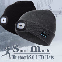 Load image into Gallery viewer, Mantis Smart Beanie LED with BLUETOOTH WIRELESS HEADSET HEADPHONE SPEAKER