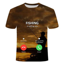 Load image into Gallery viewer, 3D - I Phone Fishing T-Shirt