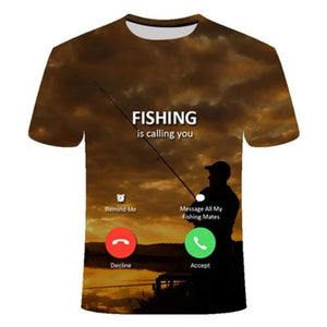 3D - I Phone Fishing T-Shirt