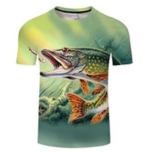 3D - Image Fishing T-Shirt