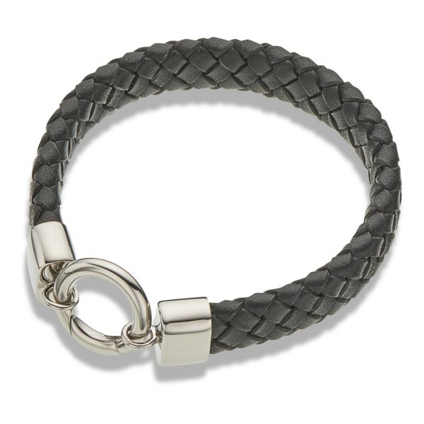 Palas Jewellery Black Leather Wide Bracelet Wide