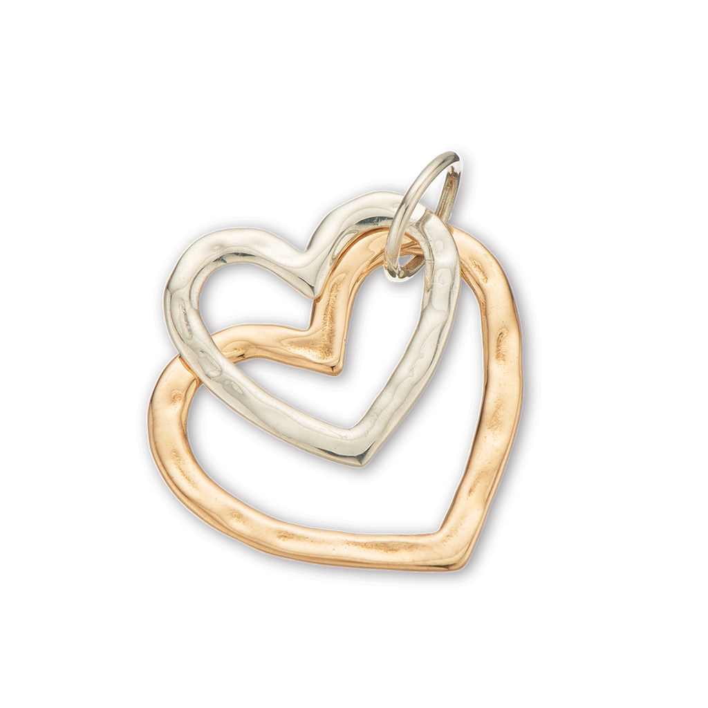 Palas Jewellery Open Hearts Charm