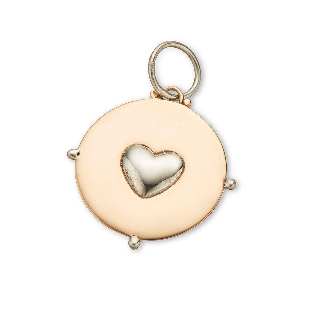 Palas Jewellery Circle Heart Charm