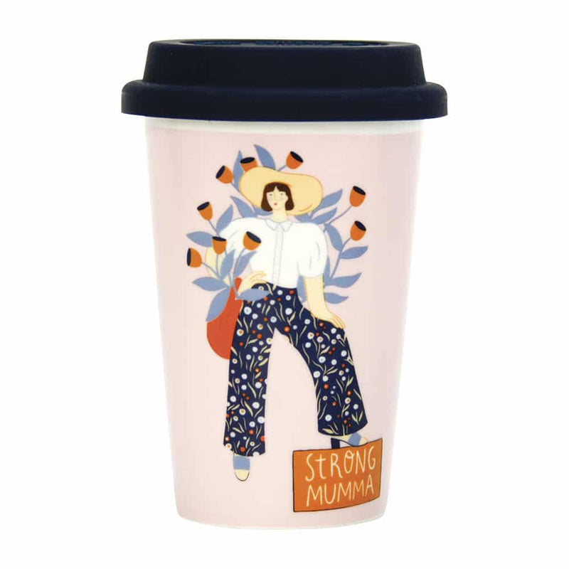 Ceramic Travel Cup – Strong Mumma