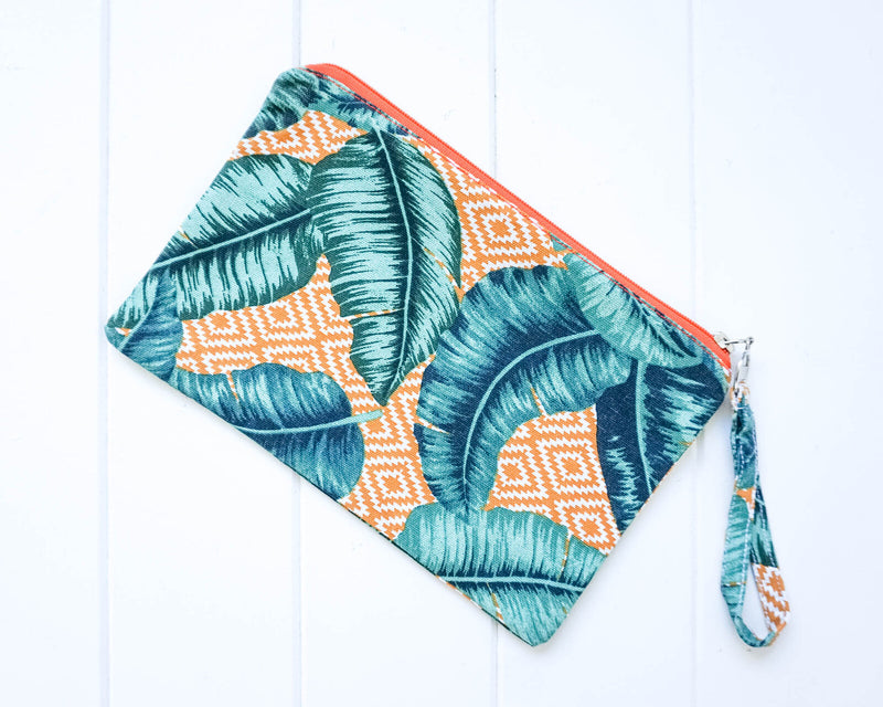 Essential Oil Zippered Pouch - Trible & Green Leaf