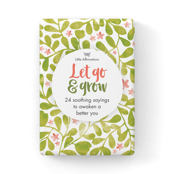 Little Affirmations Card Set -Let Go and Grow Spiritual Oracle Cards