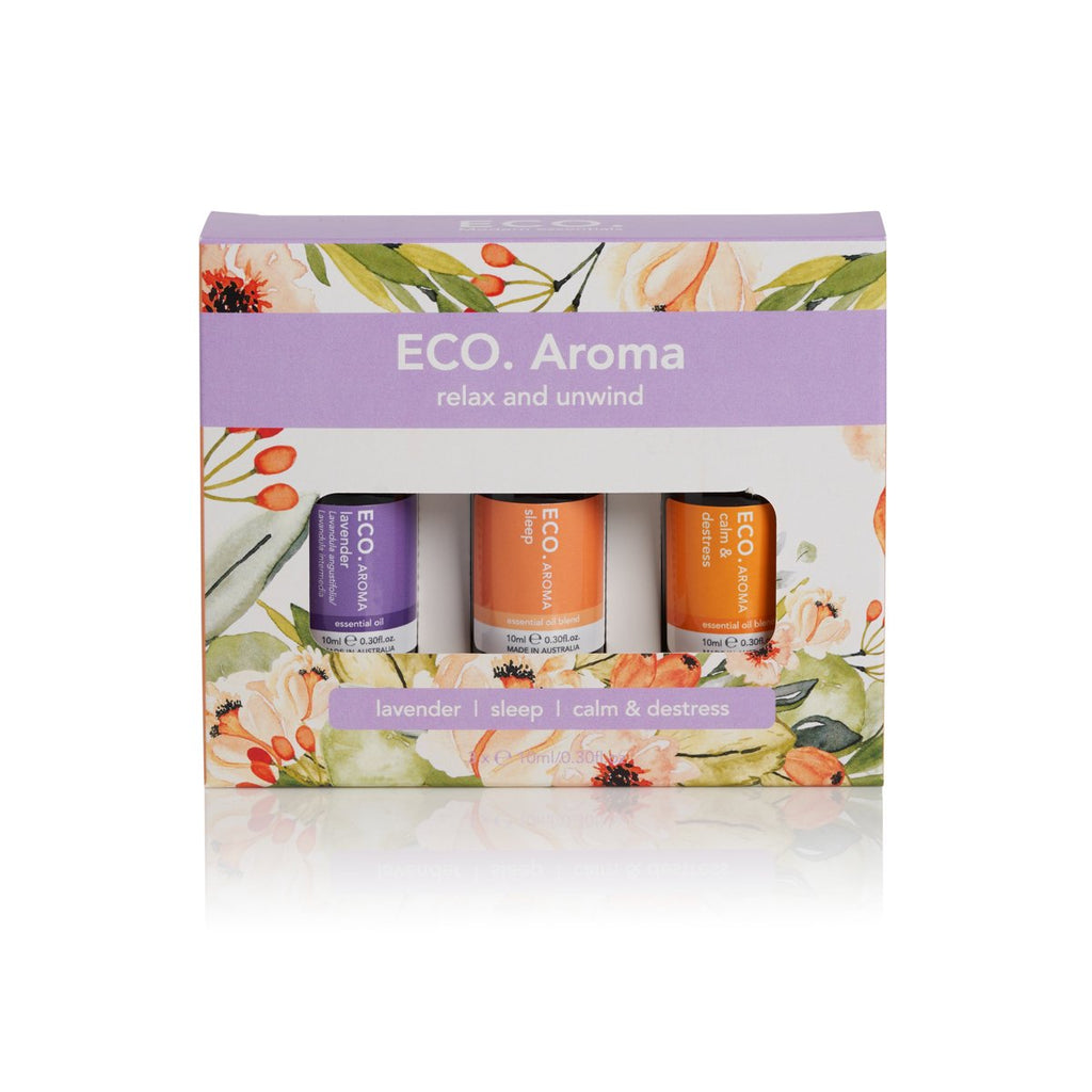 Eco Essential Oil Relax & Unwind Aroma Pack