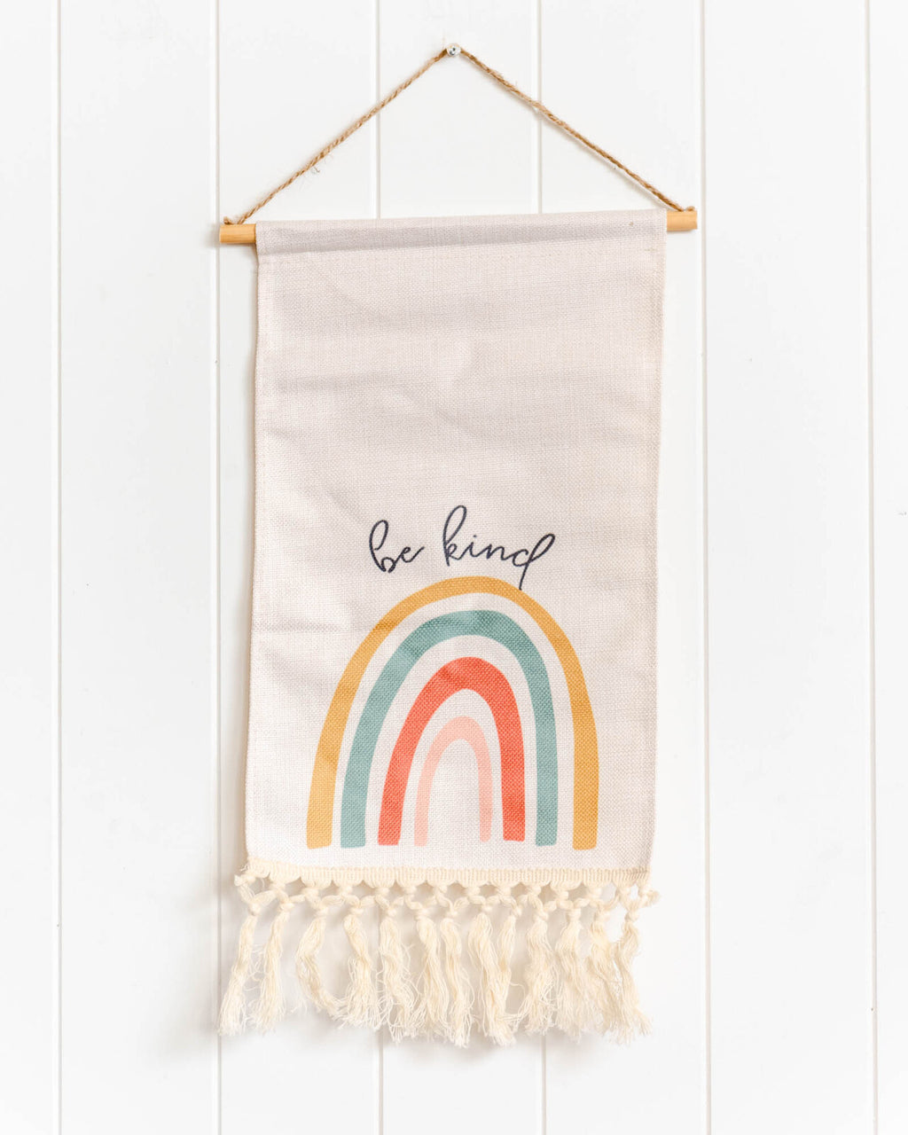 Be Kind Rainbow Scroll Wall Art