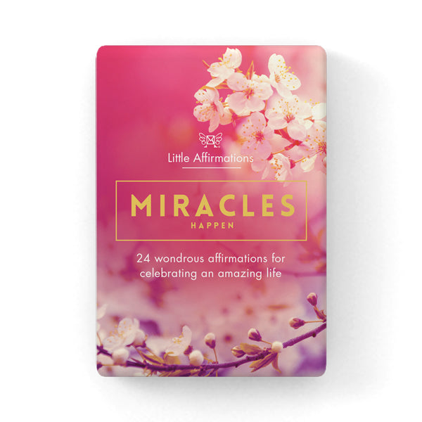 Miracles Happen Guidance Through Difficult Times Affirmation Cards