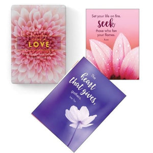 Living in Love Spiritual Divination Gift Cards Angel Inspirational