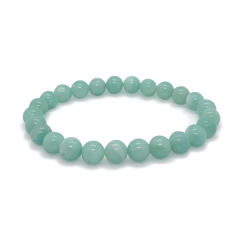 Hopeful Amazonite Crystal  Stretch Bracelet