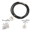 Palas Spirit Animal Black Wrap Bracelet Charm Set