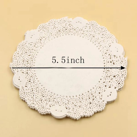 5.5'' Inch 50PCS/Lot Eco-Friendly Grease-Proof White Paper Doilies For Home Wedding Birthday Christmas Party Table Decoration