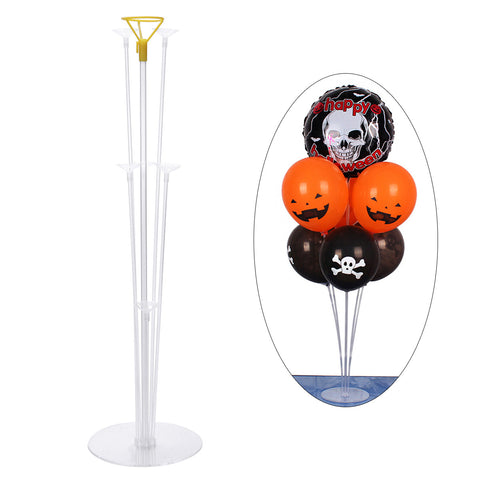 Table Balloon Stand with Plastic Sticks and Holder Cups for Party Decoration (Cups in Random Color)