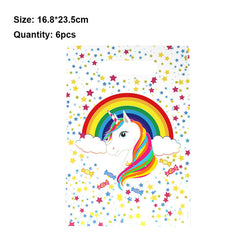 Unicorn Series Disposable Tableware Paper Cup Plates Hat Mask DIY Wedding Birthday Theme Party Supplies DIY Table Decorations