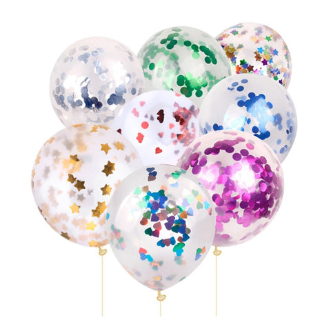 Party Confetti Balloons 10Pcs 12inch Latex Balloons for Wedding Decoration Kids Birthday Party Event Ceremony Supplies