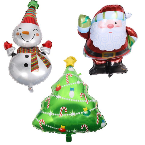 Christmas Party Balloons Santa Claus Foil Balloons for Kids Children Toys Birthday Christmas Decoration Baby Shower Supplies