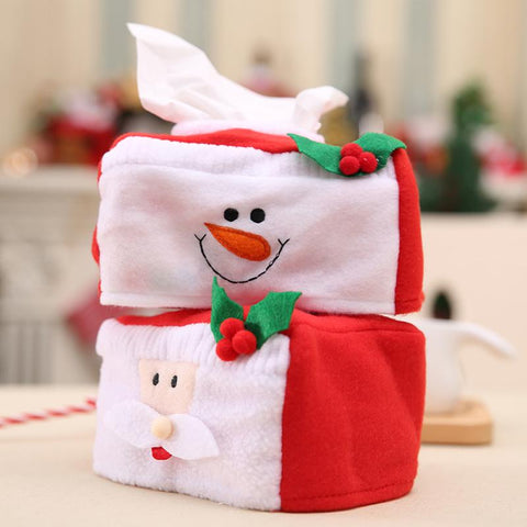 1PC Santa Claus Tissue Box Christmas Table Decoration for Home Christmas Napkin Holder New Year Products Party Supplies